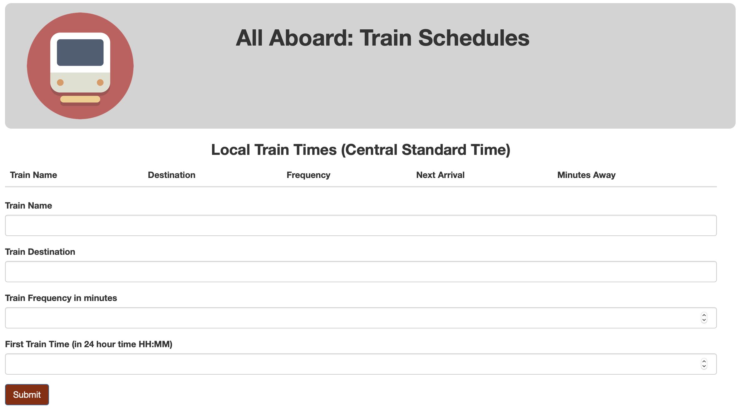 Train Scheduler